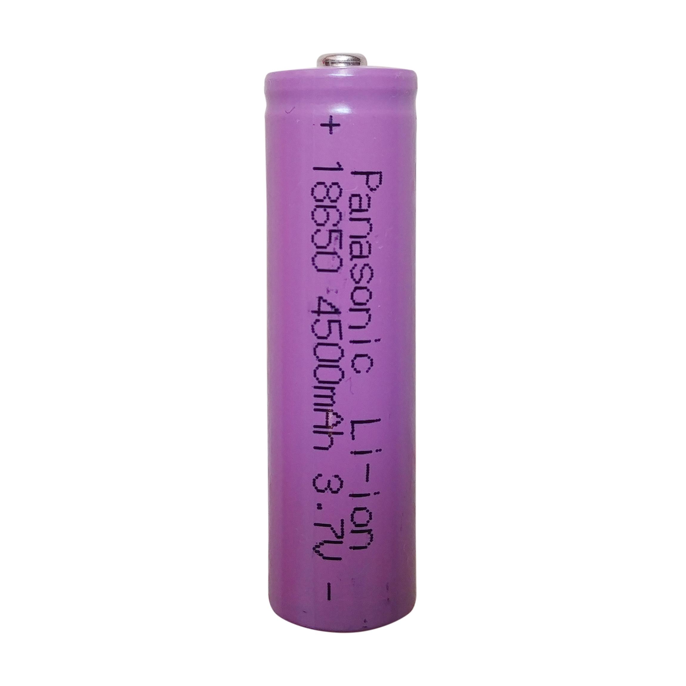 باتری لیتیوم-یون قابل شارژ پاناسونیک کد 18650 ظرفیت 4500 میلی آمپرساعت