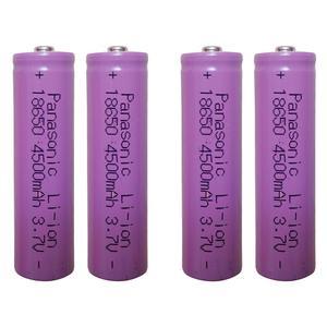 باتری لیتیوم-یون قابل شارژ پاناسونیک کد 18650 ظرفیت 4500 میلی آمپرساعت بسته 4 عددی