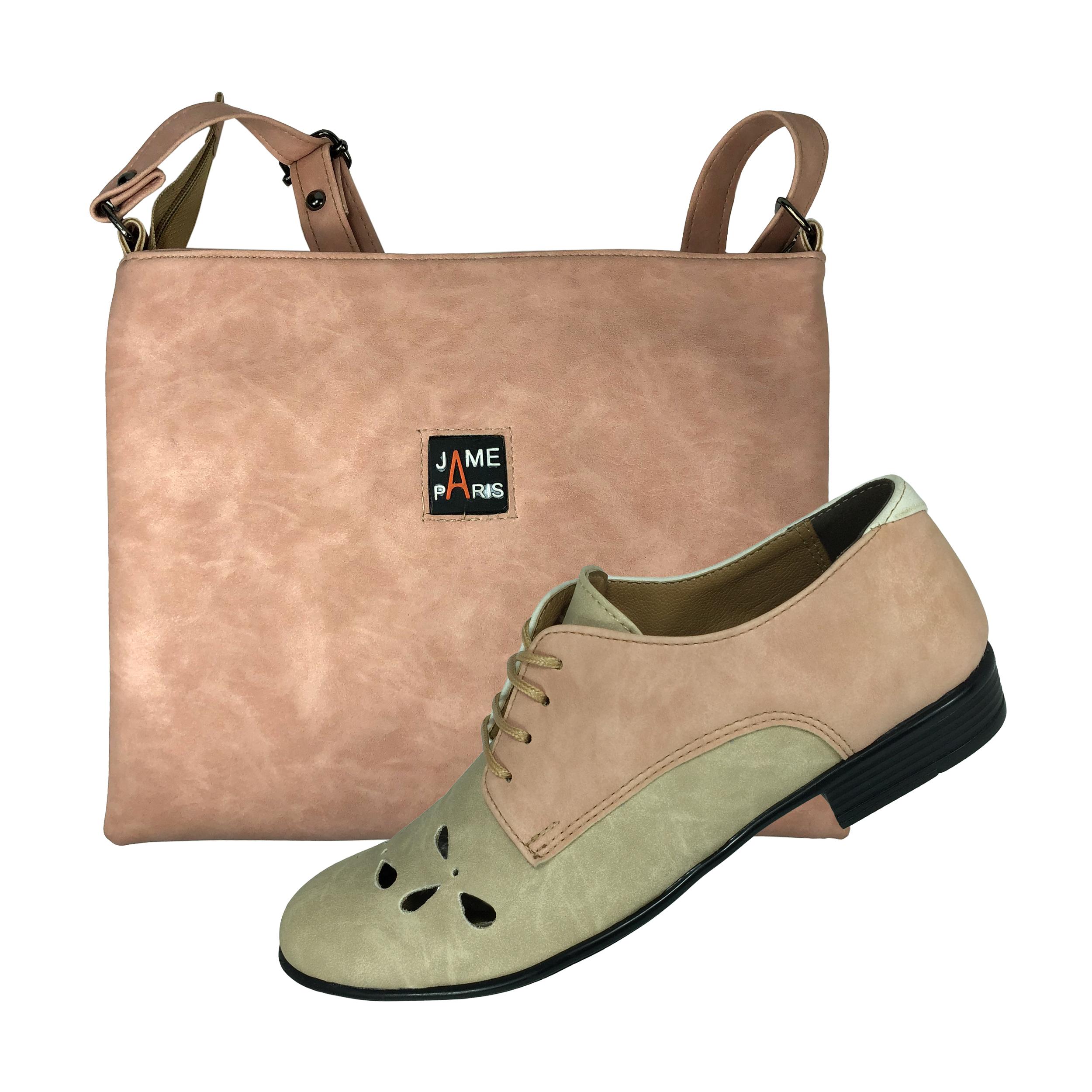 ست کیف و کفش زنانه پاریس جامه کد B496