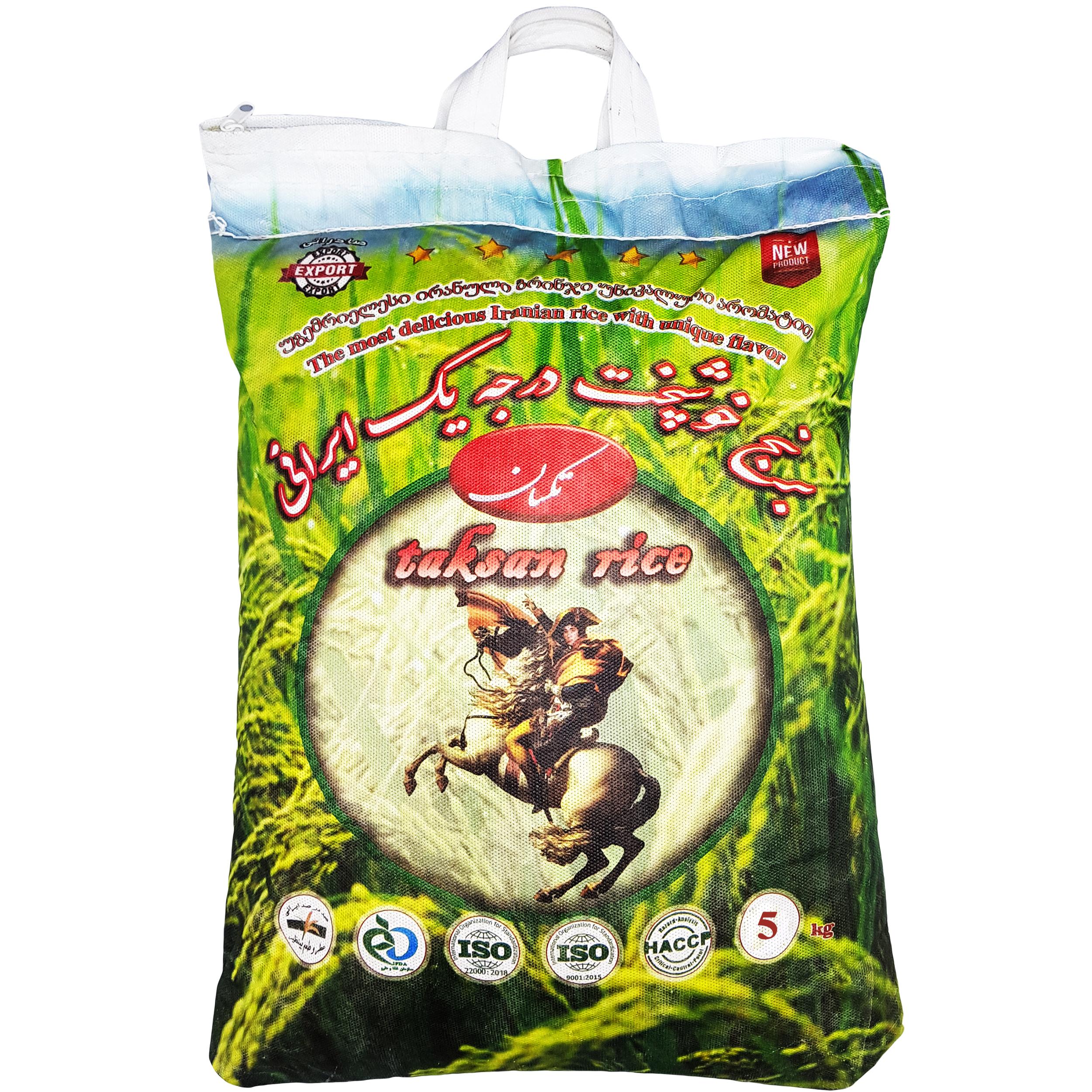 برنج نیم دانه هاشمی تکسان - 5 کیلوگرم