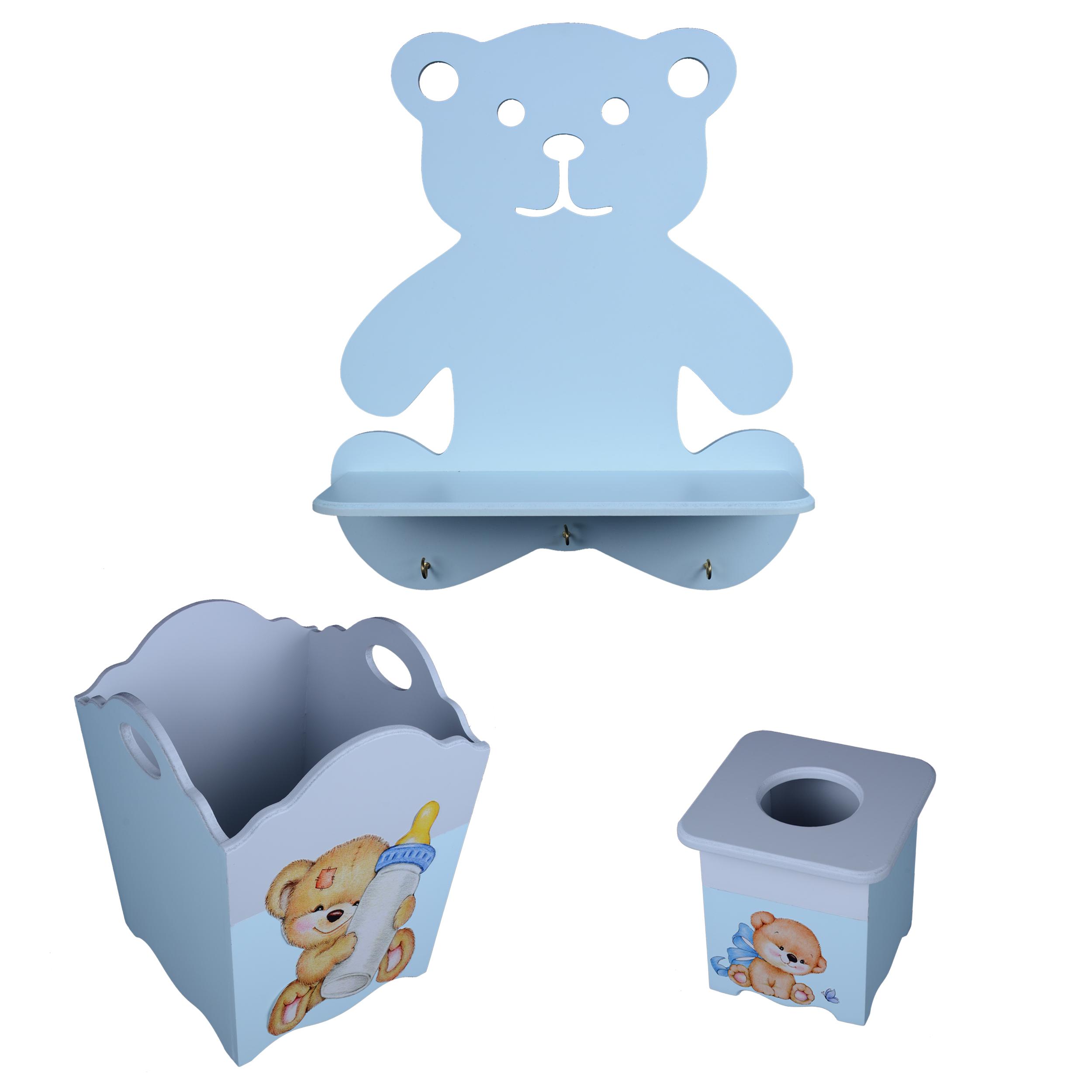 خرید                     سیسمونی اتاق کودک مدل خرس پسرانه مجموعه 3 عددی
