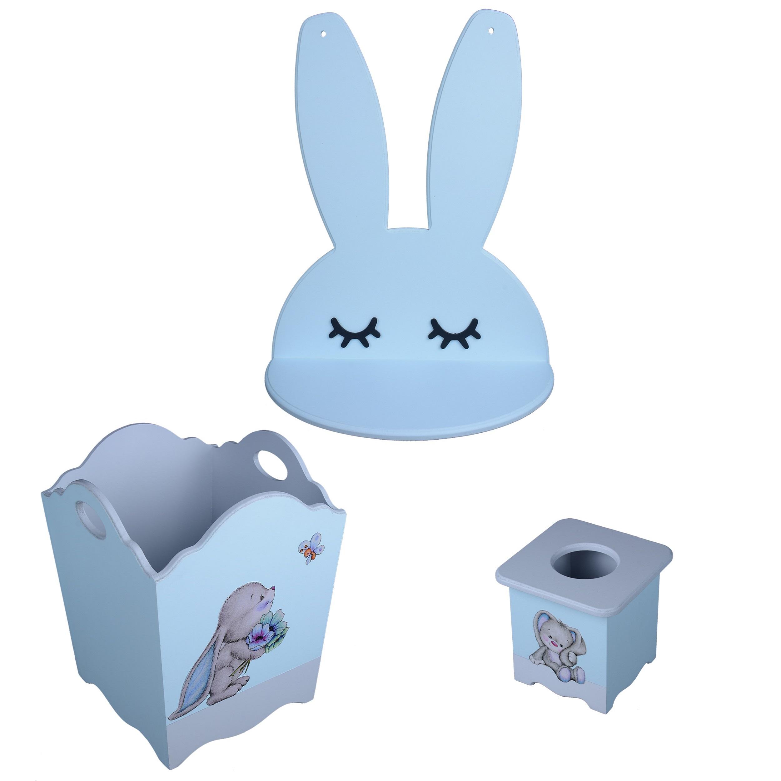 خرید                     سیسمونی اتاق کودک مدل خرگوش پسرانه مجموعه 3 عددی