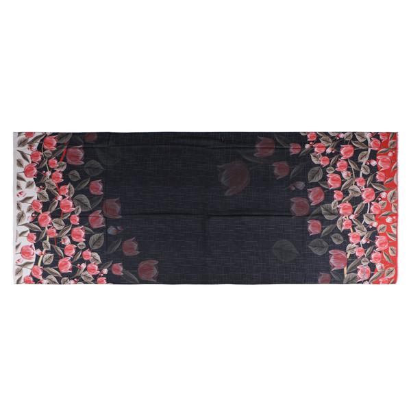 شال زنانه لیدی لاسنتی طرح گل لاله کد KRN-038