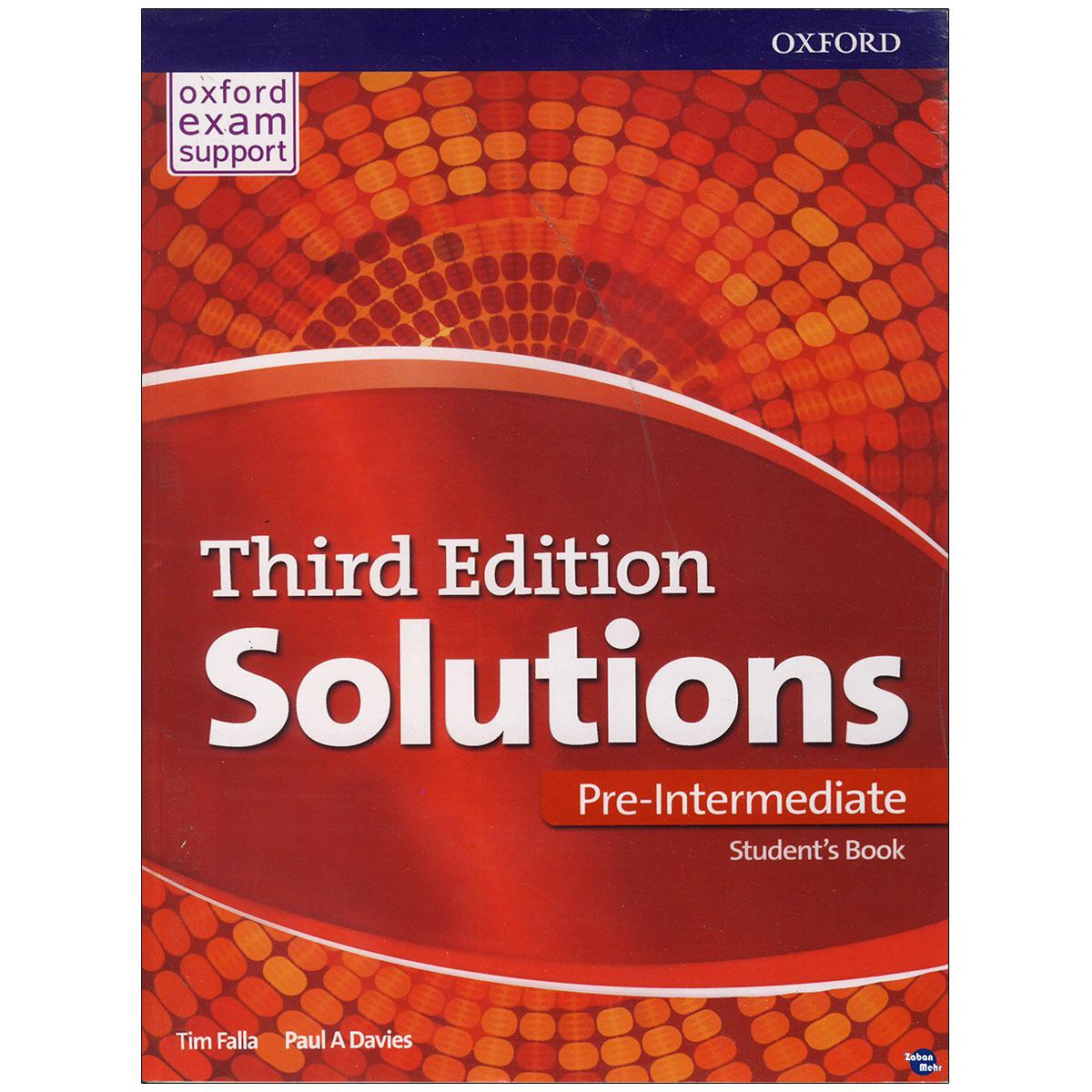 خرید                      کتاب Solutions per-Intermediate اثر Tim Falla Paul A.Davies انتشارات زبان مهر