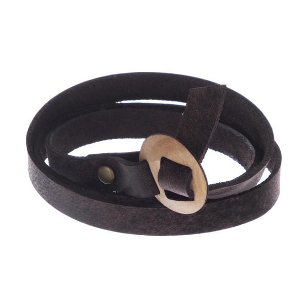 دستبند مردانه چرم لانکا مدل BB-9 GH T