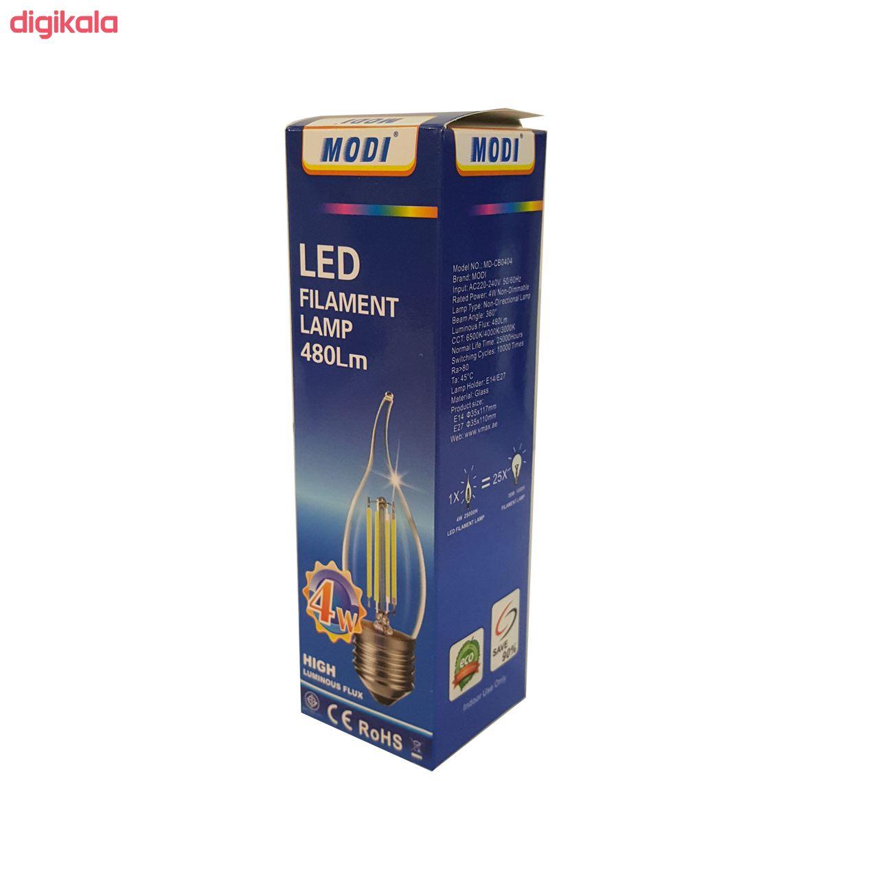 لامپ فیلامنتی 4 وات مودی مدل Nik480 پایه E14 main 1 2