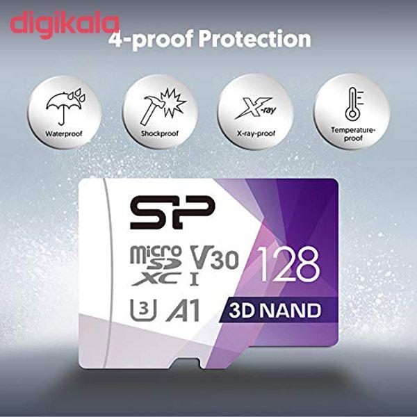 کارت حافظه microSDXC سیلیکون پاور مدل Superior Pro کلاس 10 استاندارد UHS-I U3 سرعت 100MBps ظرفیت 128 گیگابایت به همراه آداپتور SD main 1 5
