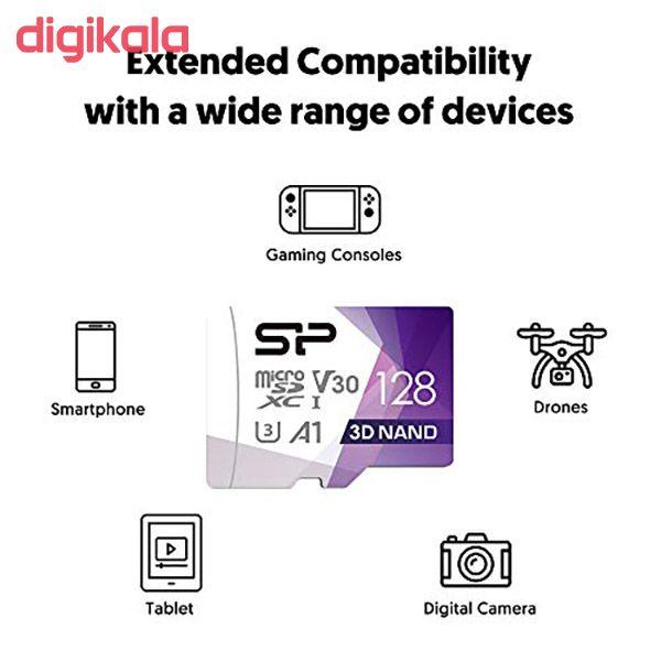 کارت حافظه microSDXC سیلیکون پاور مدل Superior Pro کلاس 10 استاندارد UHS-I U3 سرعت 100MBps ظرفیت 128 گیگابایت به همراه آداپتور SD main 1 6