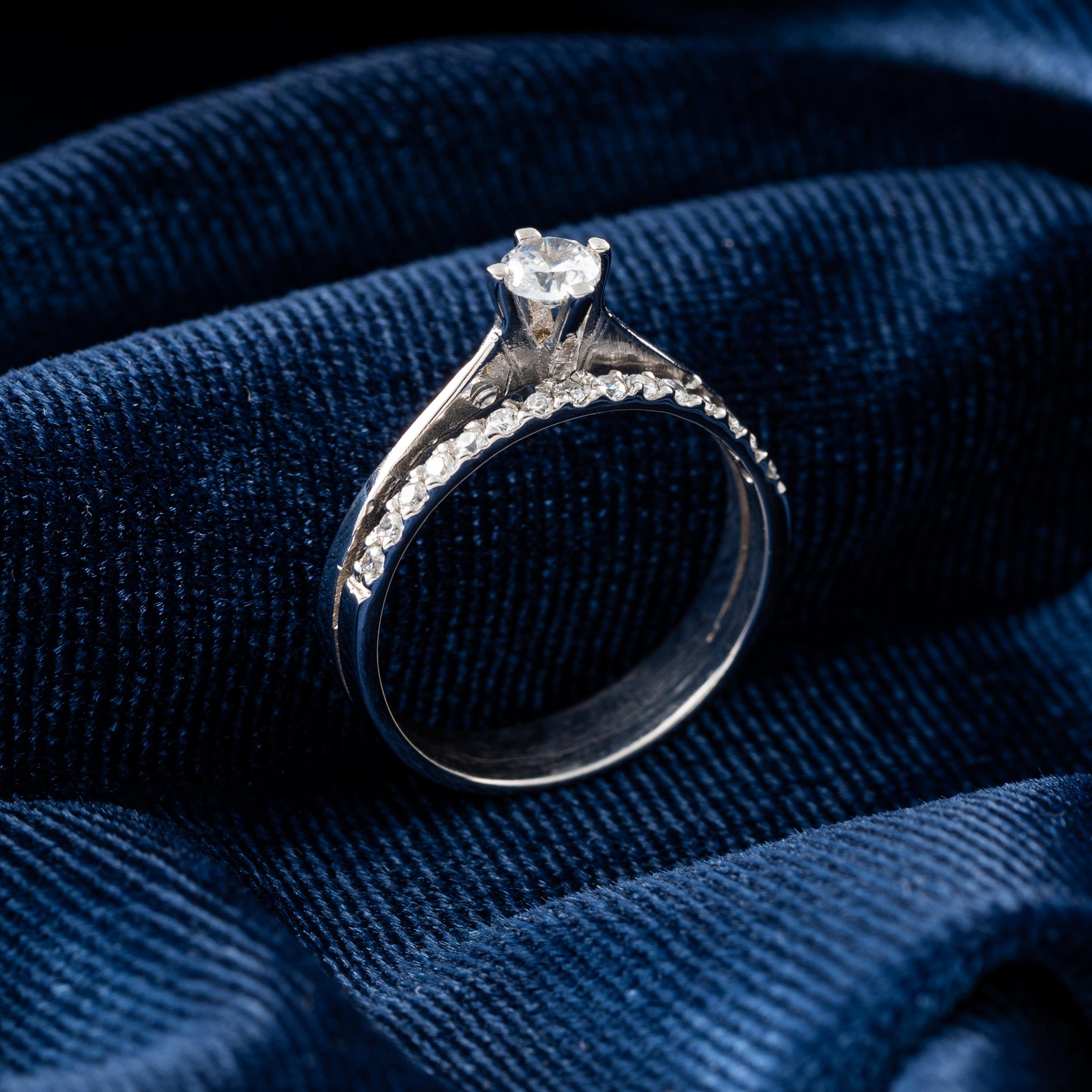 انگشتر طلا 18 عیار جواهری سون مدل 2253