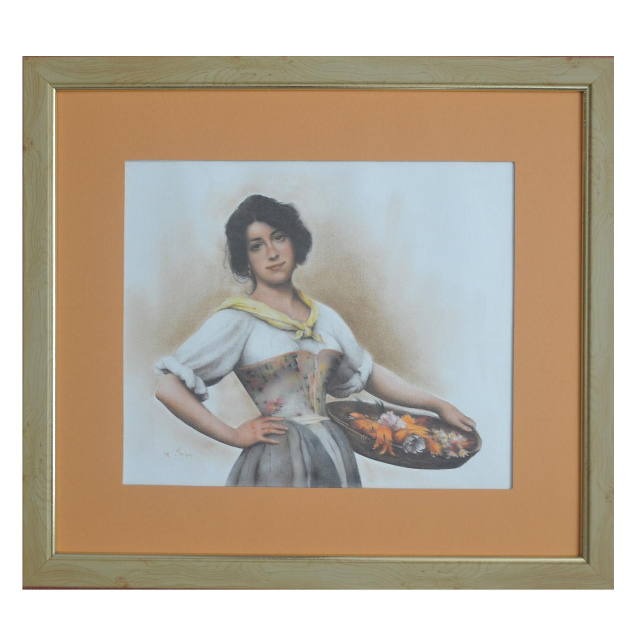 تابلو نقاشی مدل زن ونیزی