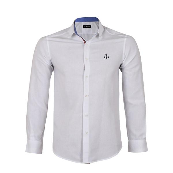 پیراهن مردانه ناوالس کد SlmFt-PPLN-wh