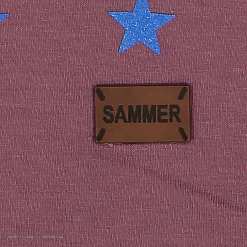 ست تی شرت و شلوارک پسرانه کد sm055