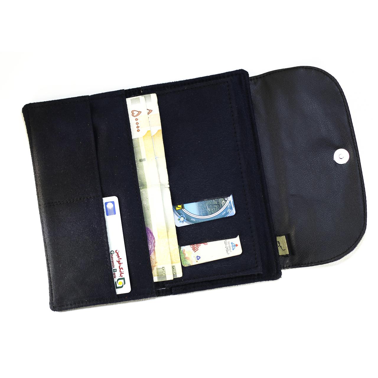 خرید                      کیف پول صنم مدل ریحان کد 06