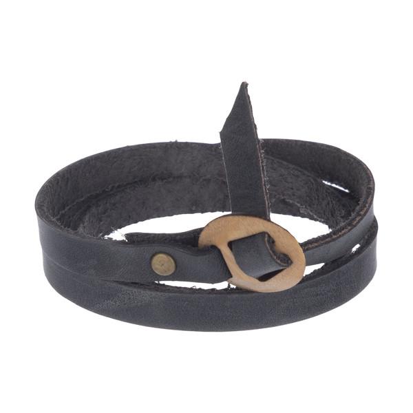 دستبند مردانه چرم لانکا مدل BB-9 KH