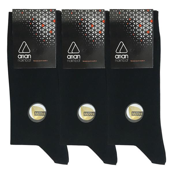 جوراب مردانه آریان نخ باف کد52217 بسته 3 عددی