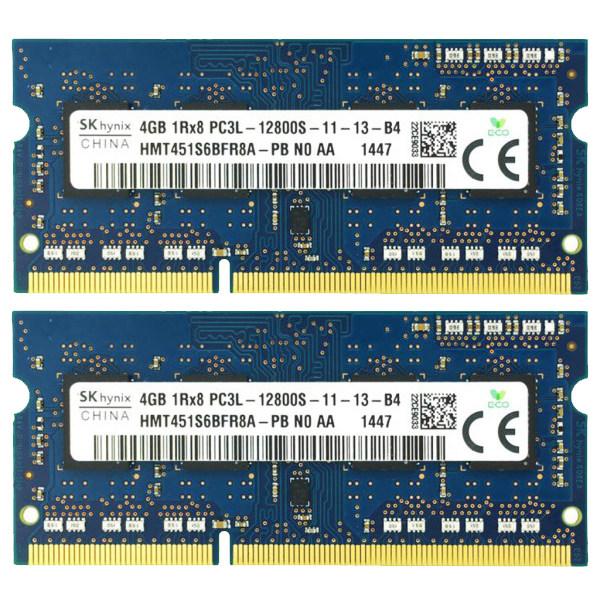 رم لپتاپ DDR3L دوکاناله 1600 مگاهرتز CL11 اس کی هاینیکس مدل 12800S ظرفیت 8 گیگابایت