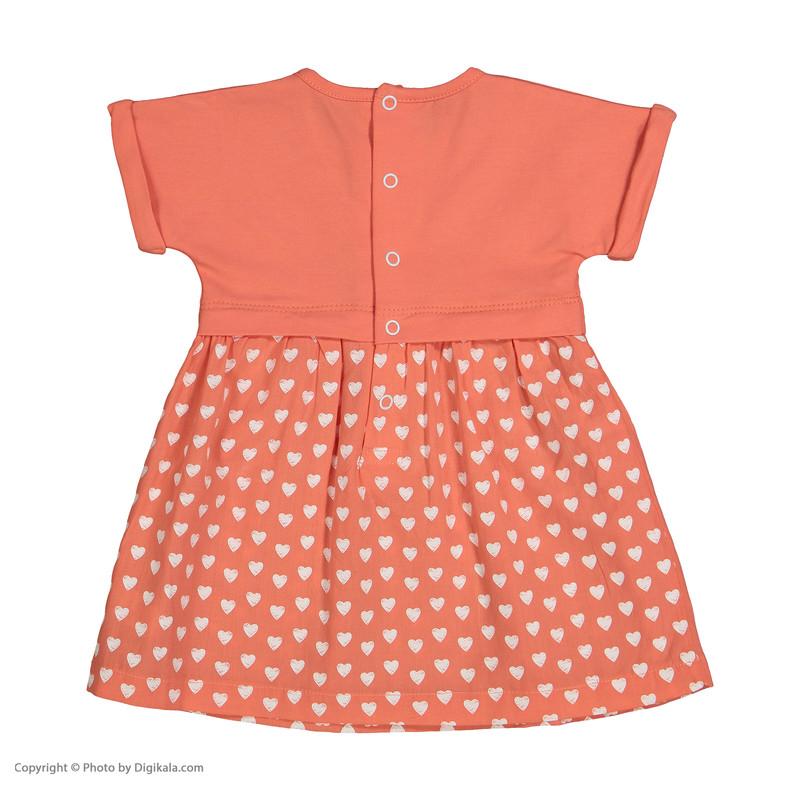 پیراهن نوزادی دخترانه پیانو مدل 05236-22