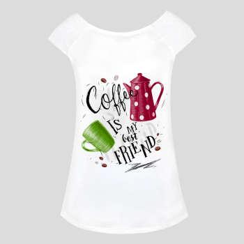 تی شرت زنانه طرح coffe کد 1000006
