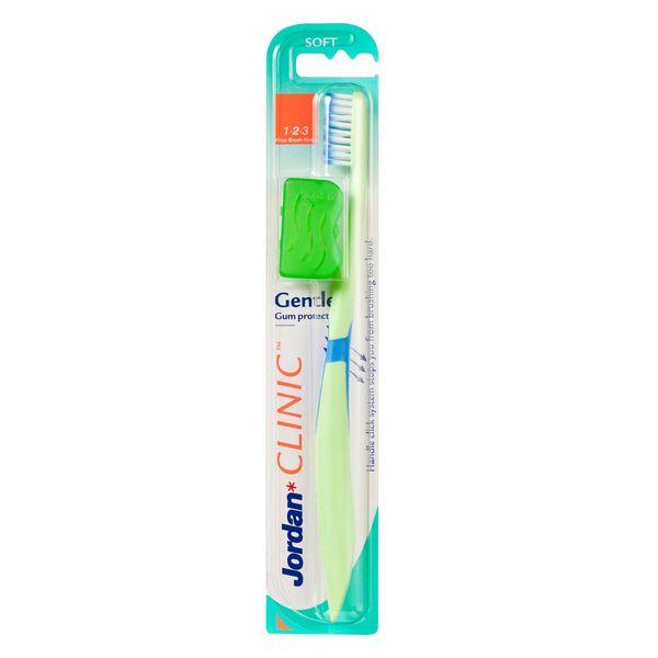 مسواک جردن مدل Gum Protect با برس نرم به همراه درپوش