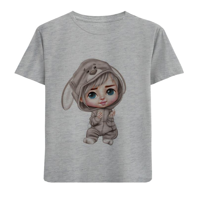 تی شرت آستین کوتاه دخترانه طرح لباس خرگوشی کد F60