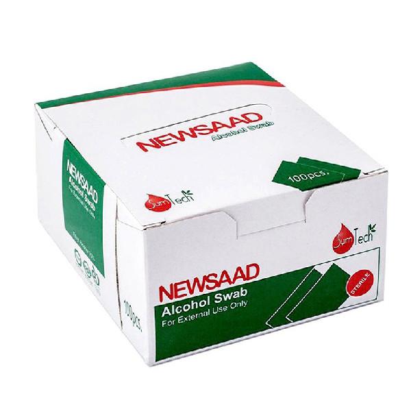 پد الکل طبی نیوساد مدل A100 بسته ۱۰۰ عددی
