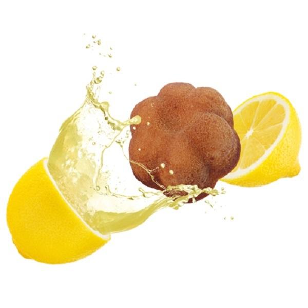 کیک  گل ستاره ای با مغزی کرم لیمو تنورستان - 50 گرم