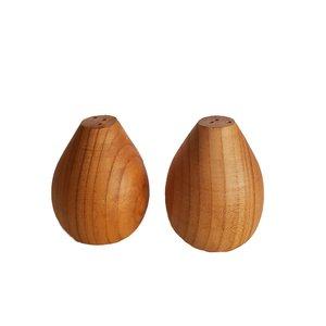 نمکدان چوبی مدل B-001 بسته 2 عددی