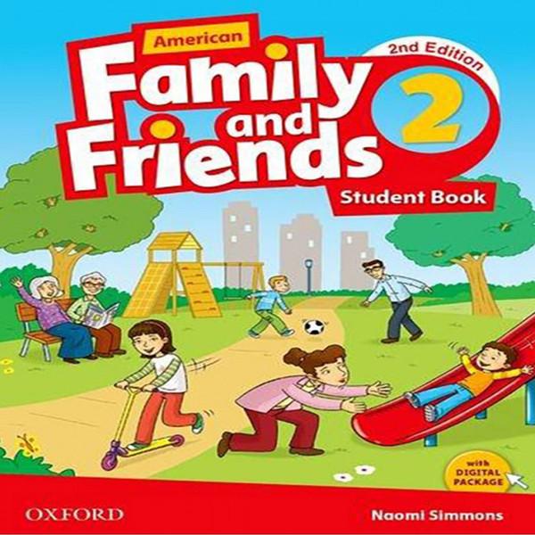 کتاب 2 American Family and Friends اثر Naomi Simmons انتشارات Oxford