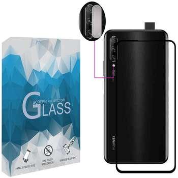 محافظ صفحه نمايش مدل FLGSP مناسب برای گوشی موبایل هوآوی Y9s به همراه محافظ لنز دوربین