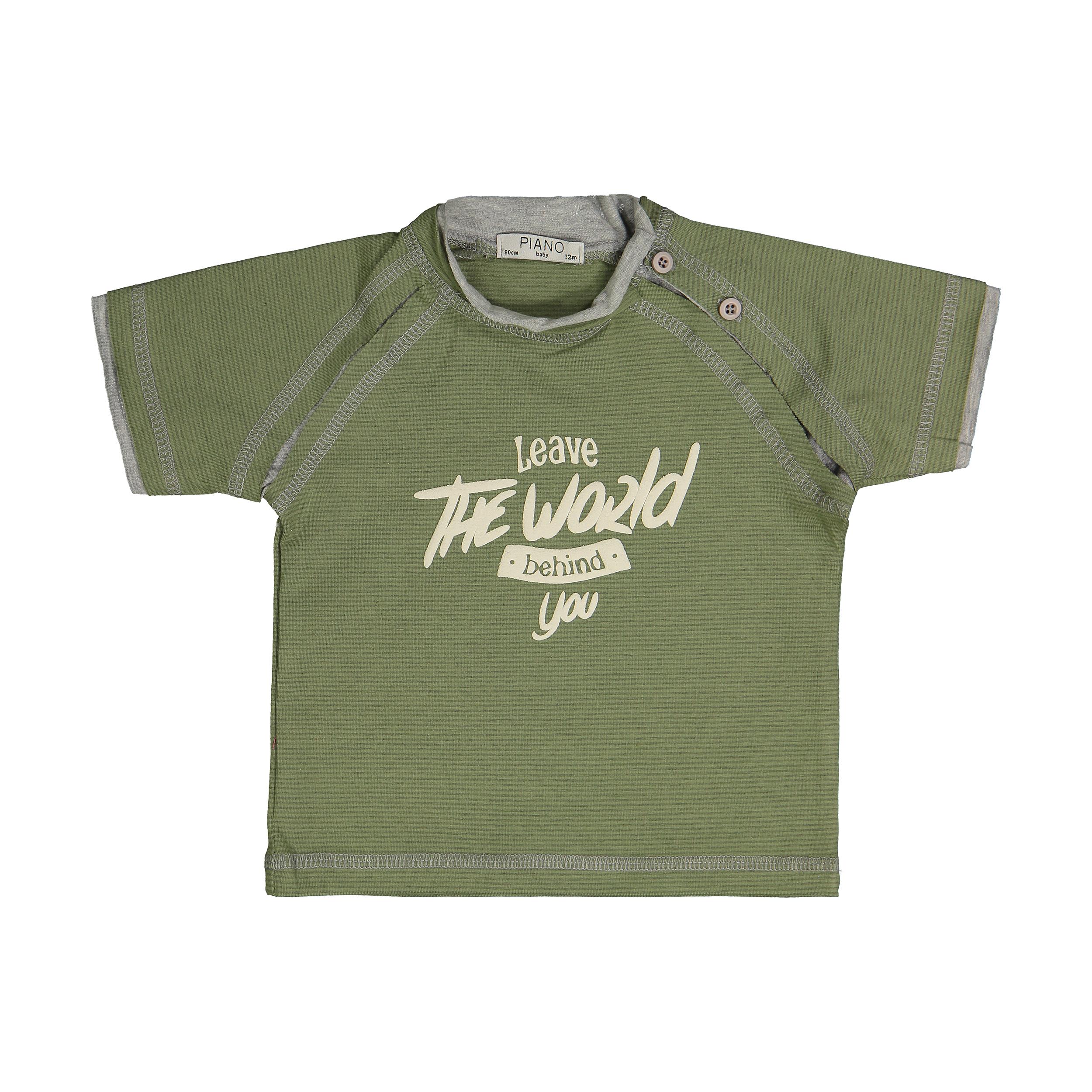 تی شرت نوزادی پسرانه پیانو مدل 05538-47