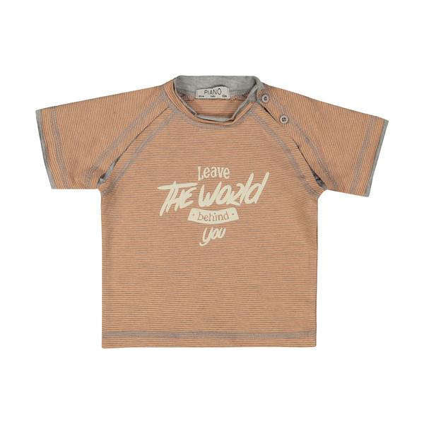 تی شرت نوزادی پسرانه پیانو مدل 05538-23
