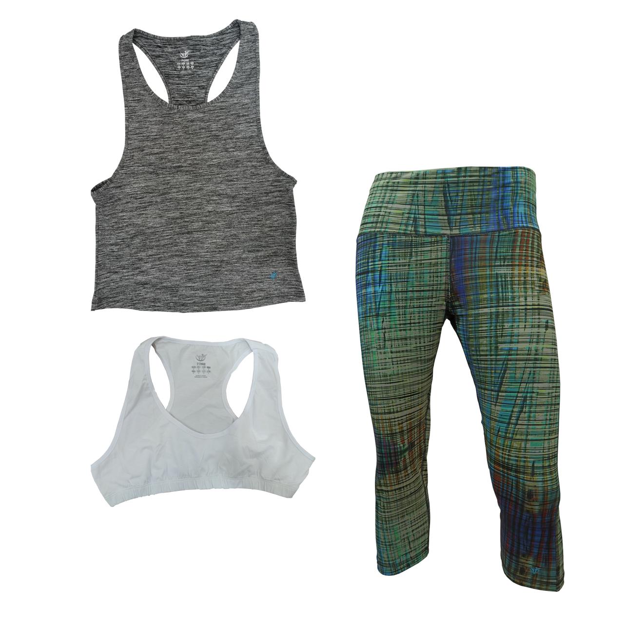ست 3 تکه لباس ورزشی زنانه فوره کد F3-201