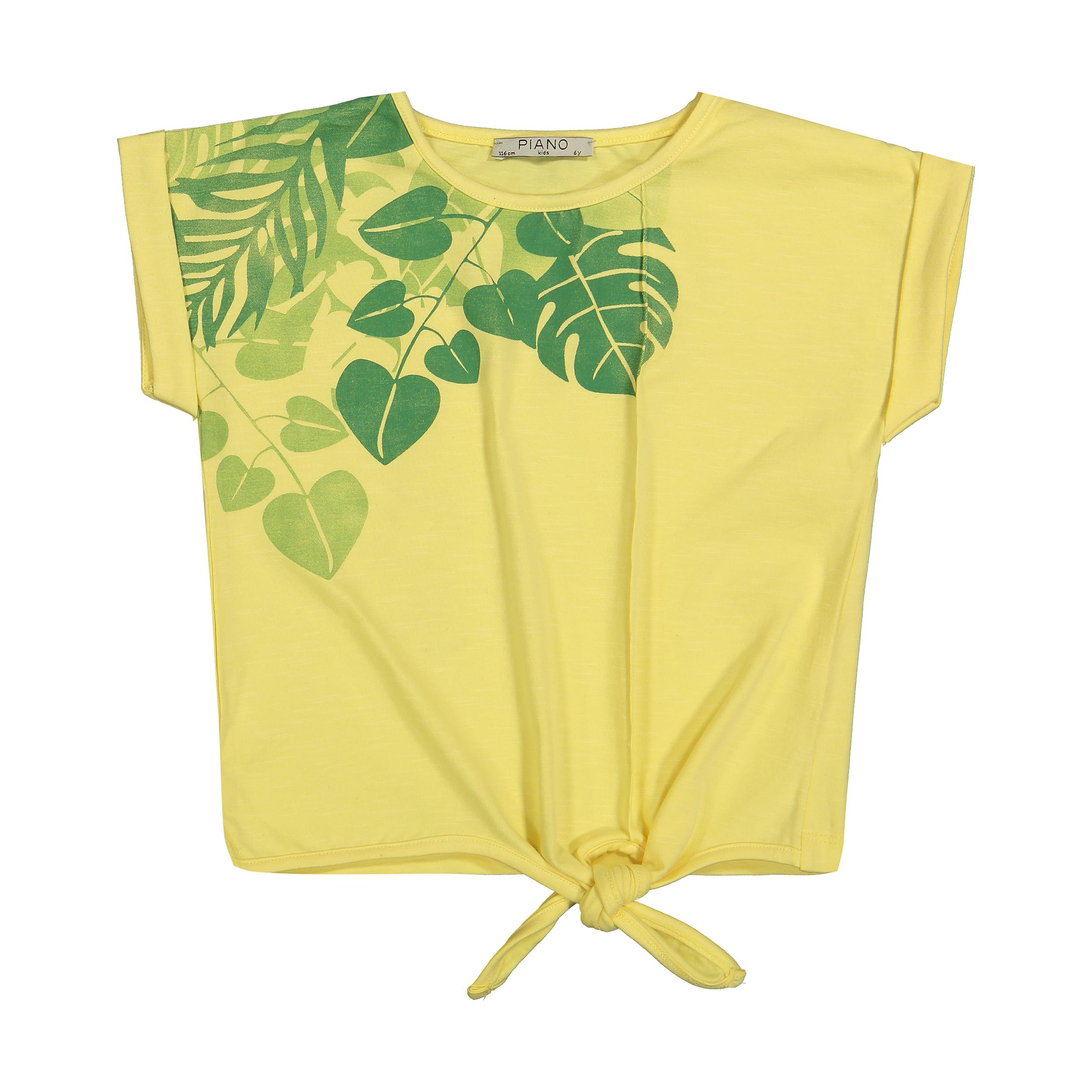 تی شرت دخترانه پیانو مدل 01403-16