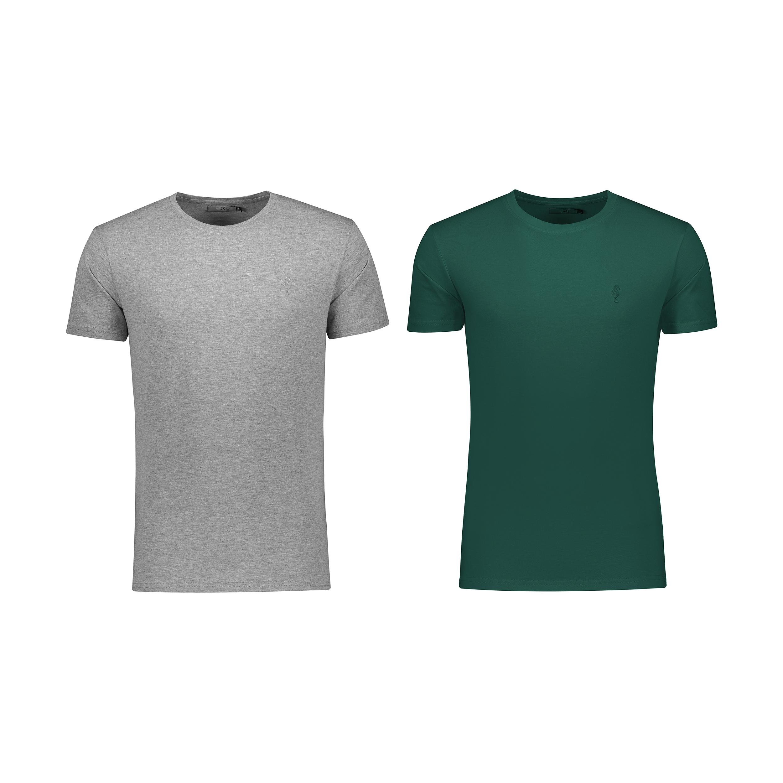 تی شرت مردانه زی مدل 1531200MC بسته 2 عددی