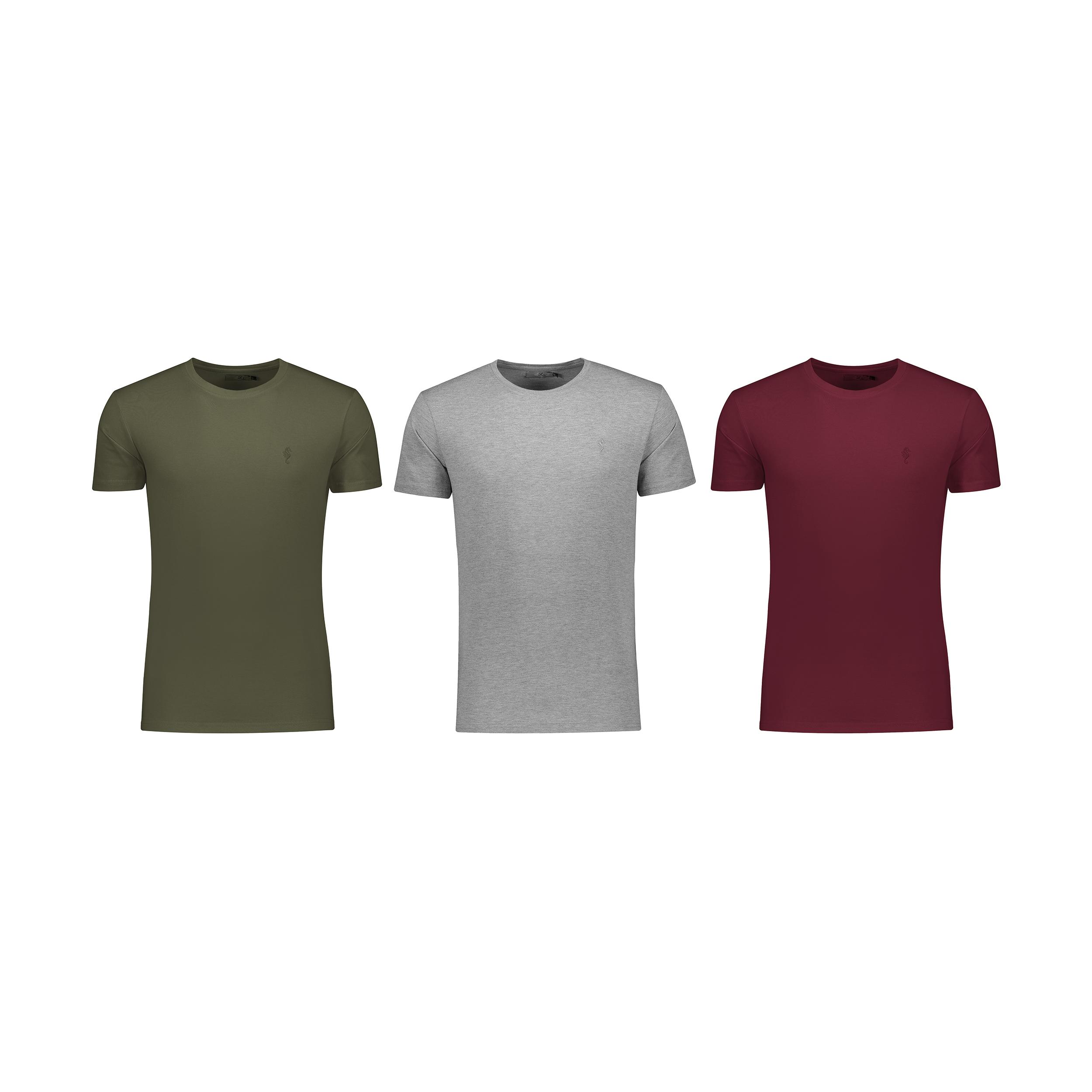 تی شرت مردانه زی مدل 1531199MC بسته 3 عددی