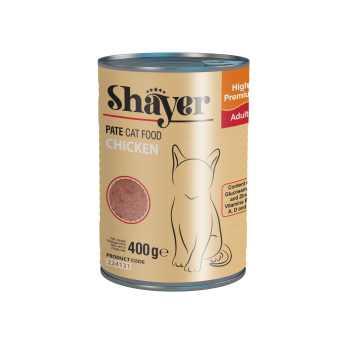 کنسرو غذای گربه شایر مدل Chicken کد224131 وزن 400 گرم بسته 6 عددی
