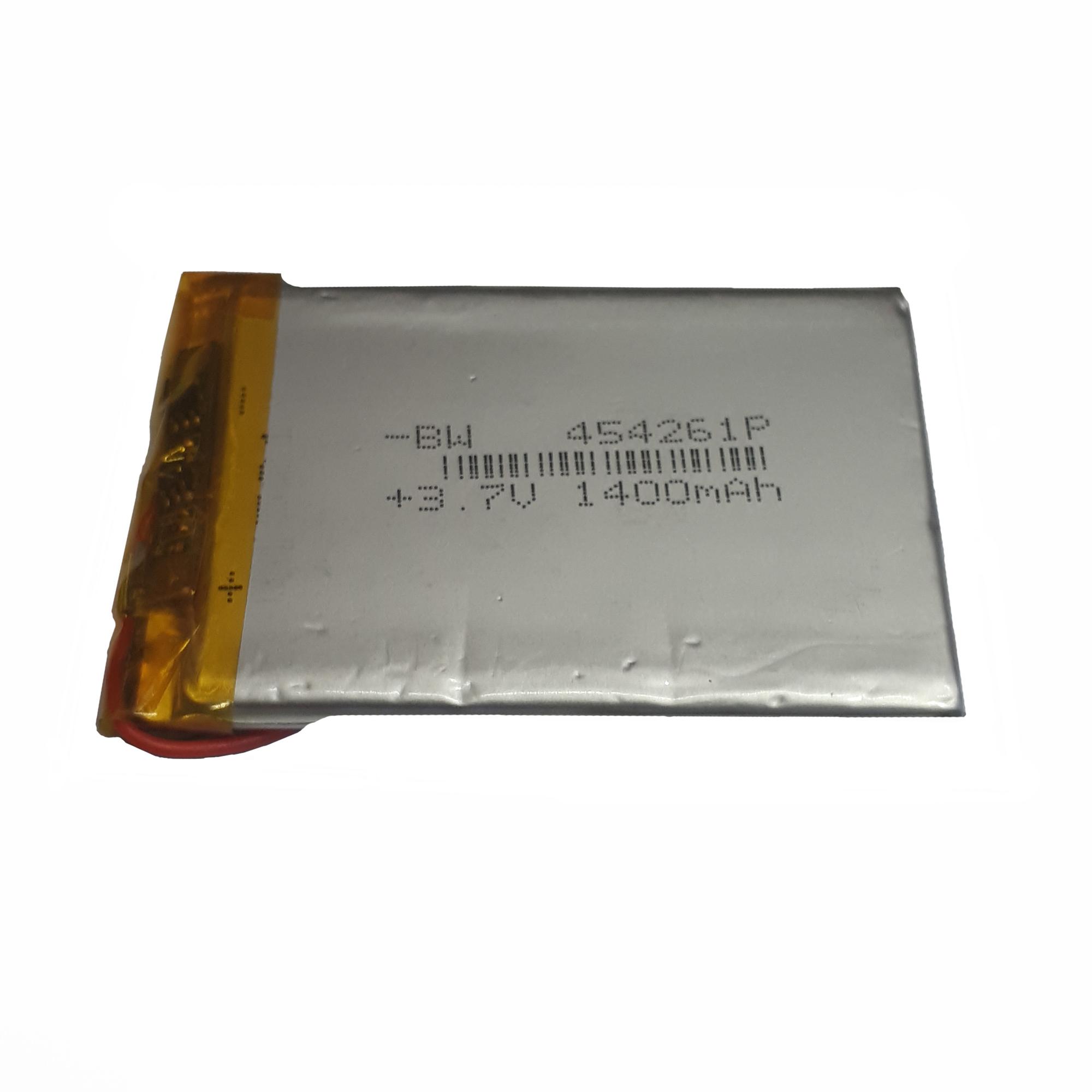 باتری لیتیوم-یون کد 454261p ظرفیت 1400 میلی آمپر ساعت