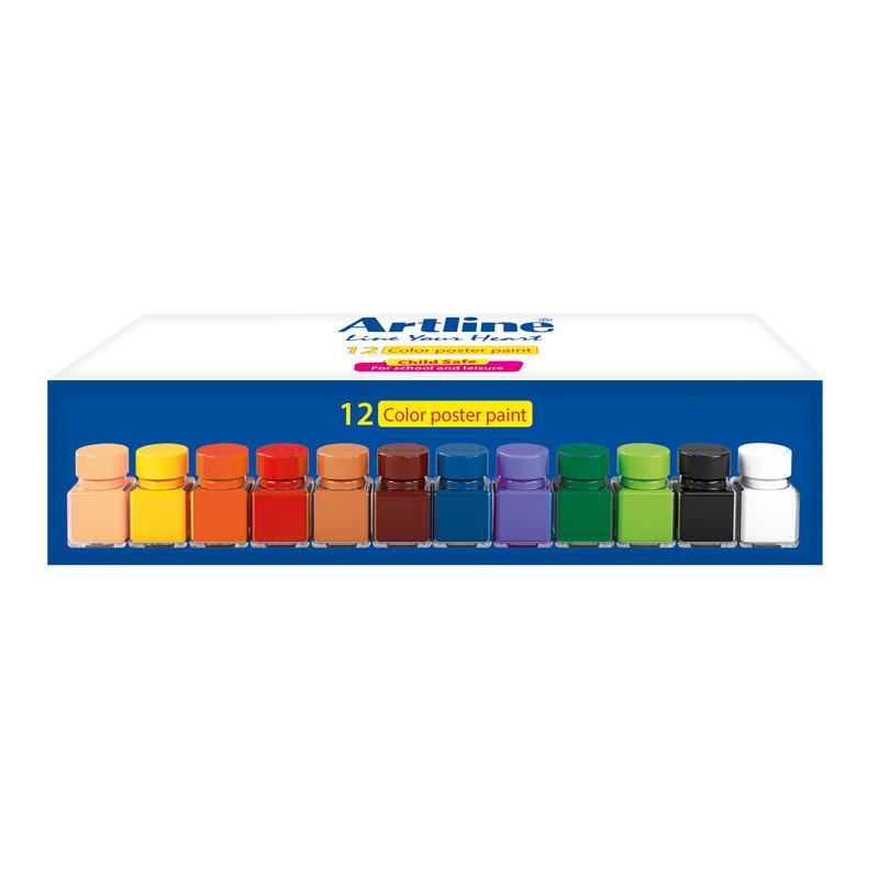 قیمت خرید گواش 12 رنگ آرت لاین مدل 820GL12 اورجینال