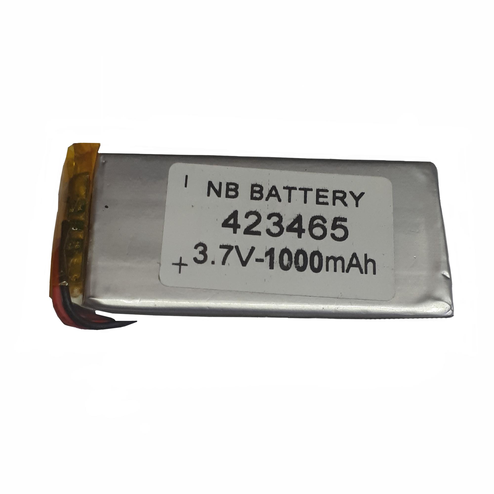 باتری لیتیوم-یون کد 423465 ظرفیت 1000 میلی آمپر ساعت