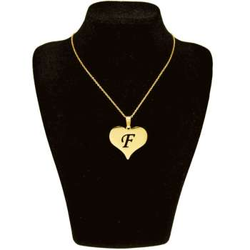 گردنبند طلا 18 عیار زنانه طرح قلب کد UN008