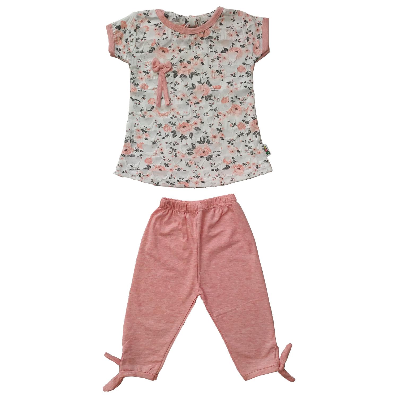 ست تی شرت و شلوارک دخترانه کد N-1005