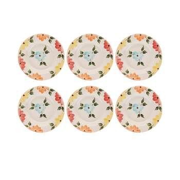 بشقاب طرح بهار گل ها کد BSgs006  مجموعه 6 عددی