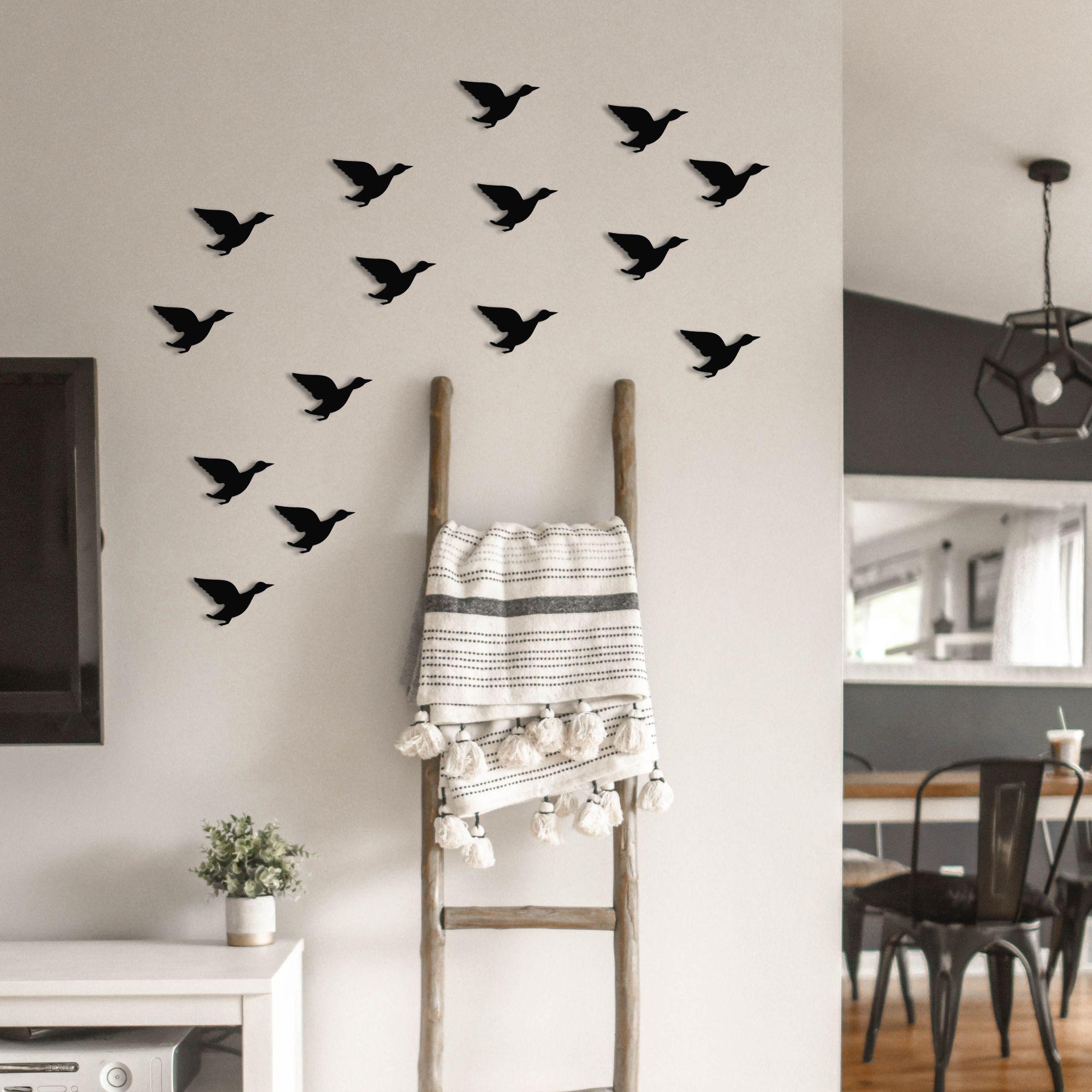 قیمت خرید استیکر چوبی رومادون طرح پرنده کد 4013 بسته 15 عددی اورجینال