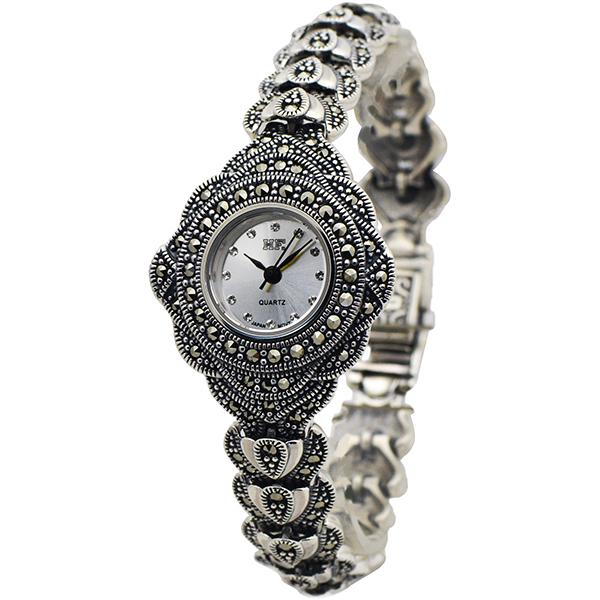 ساعت مچی عقربه ای نقره زنانه اچ اف مدل HW-0007