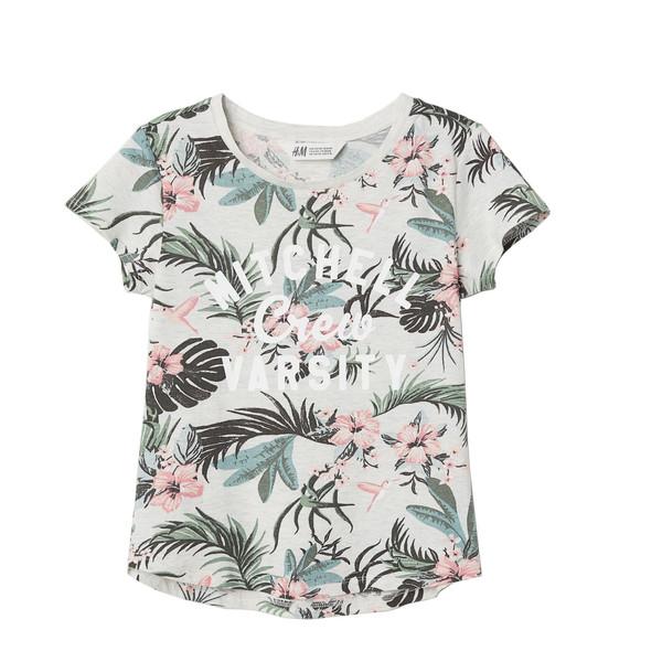 تی شرت دخترانه اچ اند ام مدل MITCHELL