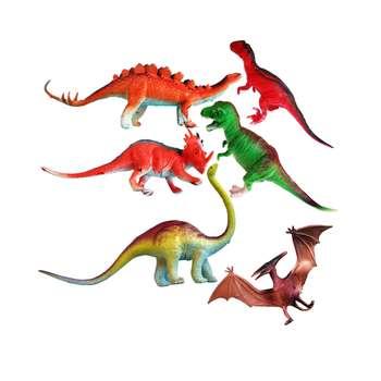 فیگور حیوانات مدل دایناسور کد AK-52 مجموعه 6 عددی