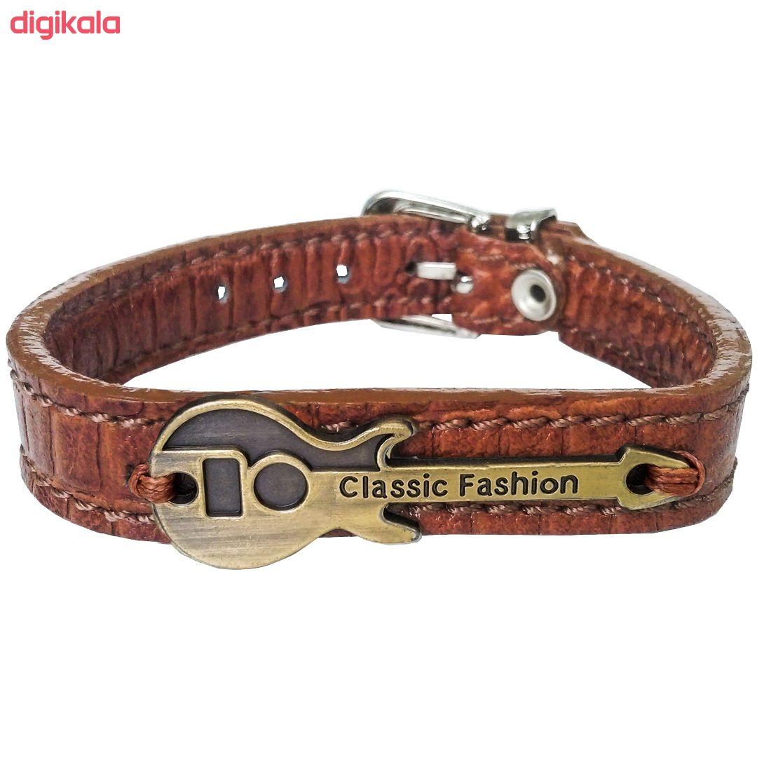 دستبند چرم وارک طرح گیتار مدل رادمان کد rb143 main 1 1