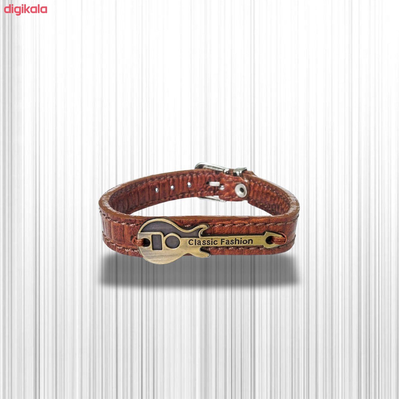 دستبند چرم وارک طرح گیتار مدل رادمان کد rb143 main 1 7