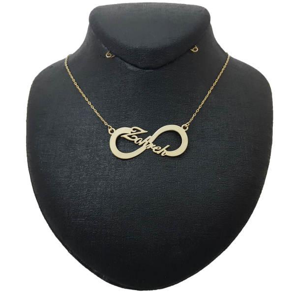 گردنبند نقره زنانه طرح اسم زهره بی نهایت کد UN0013