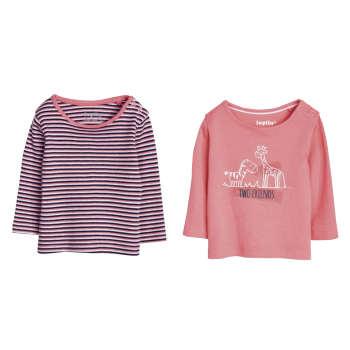تی شرت آستین بلند نوزادی لوپیلو مدل LP21 مجموعه 2 عددی